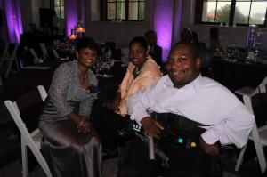 My aunt, Katrinda McQueen (from left) my mom, Sherron Jackson and me at the wedding reception.