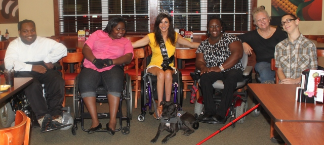 Members of Trident Chapter of S.C. Spinal Cord Injury Association with Julia Rodes