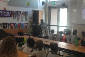 Speaking to students at Meeting Street Academy in Charleston, S.C.