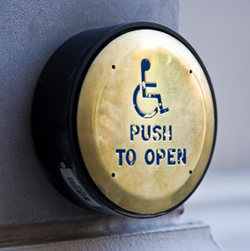 wheelchair accessible door opener