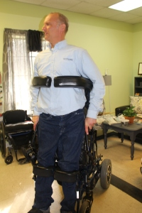 Scott Liesch in the Standing Wheelchair
