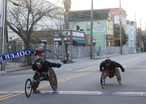 Alexadre Dupont edged out James Senbeta as they crossed the finish line.