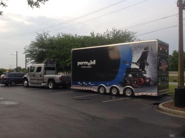 Permobil Power Trip Tour. Photo Courtesy of Mike Duda, Permobil Sales Manager