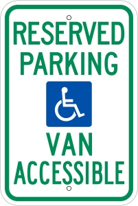 Accessible Van Parking Sign