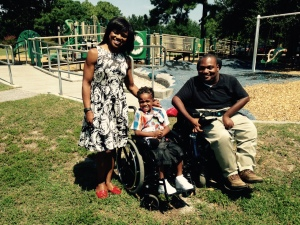 5-year-old Tyreik Gadsden with News 2's Carolyn Murray and Alex Jackson