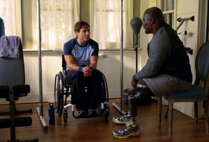 Army Colonel (Ret.) Gregory Gadson plays David, Preston's physical therapist.