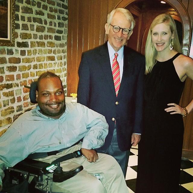 Mayor Joe Riley with Meagan Orton and me at a Gavalas Kolanko Foundation Luncheon.