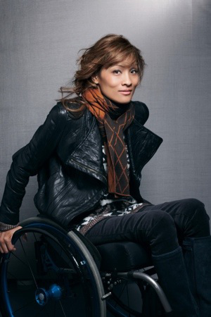 Angela Rockwood, a quadriplegic model, who has appeared on the Push Girls television show and Nordstrom catalogs.